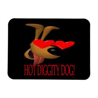 Hot Diggity Dog Rectangular Magnet