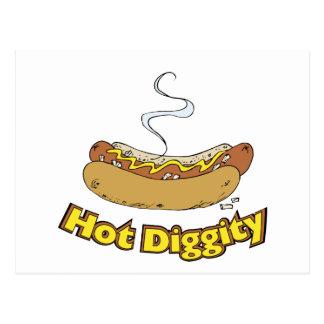 Hot Diggity ~ Hot Dog / Hot Dogs Post Card