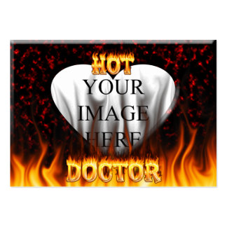 Hot Doctor fire and flames red marble Pack Of Chubby Business Cards