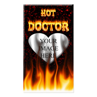 Hot Doctor fire and flames red marble Pack Of Standard Business Cards