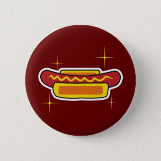 Hot Dog 6 Cm Round Badge