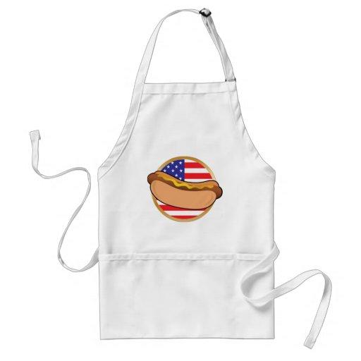 Hot Dog American Flag Apron