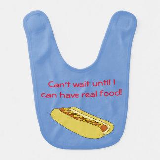 Hot Dog Baby Bib