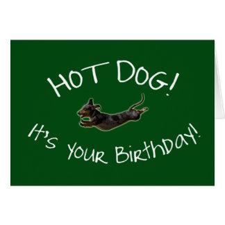 Hot Dog! Birthday Card