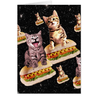 hot dog cat invasion card
