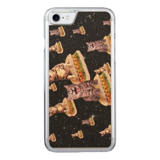 hot dog cat invasion carved iPhone 7 case