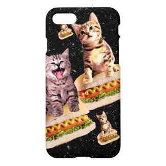 hot dog cat invasion iPhone 7 case