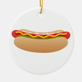 Hot Dog Christmas Ornament