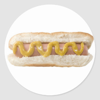 hot dog classic round sticker