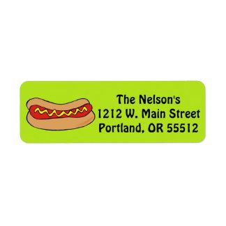 Hot dog custom labels
