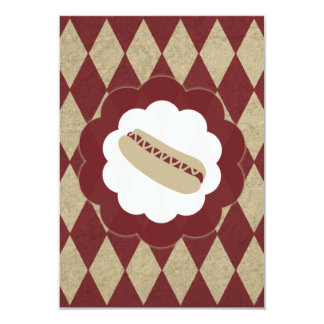 hot dog diamonds 9 cm x 13 cm invitation card