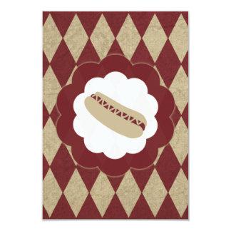 hot dog diamonds 9 cm x 13 cm invitation card