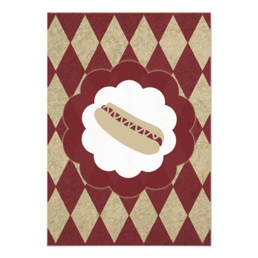hot dog diamonds personalized invitation