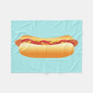 Hot Dog Fleece Blanket