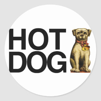 Hot Dog for pet lovers Classic Round Sticker