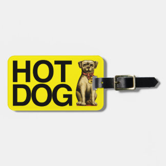 Hot Dog for pet lovers Luggage Tag