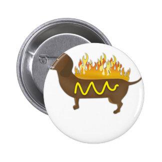 Hot Dog Funny Joke Slogan 6 Cm Round Badge