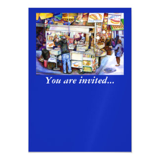 Hot Dog God, New York City Magnetic Invitations