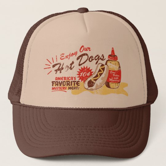 Hot Dog hat (brown/tan)