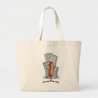 Hot Dog in the City Large Tote Bag