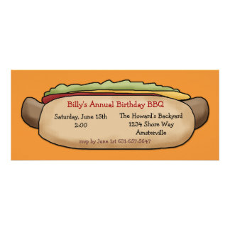 Hot Dog Invitation