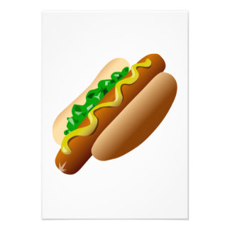 Hot Dog Personalized Invitations