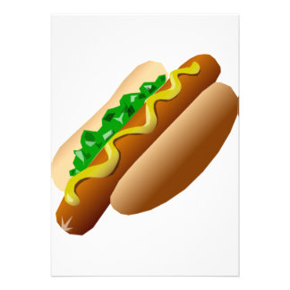 Hot Dog Personalized Announcement