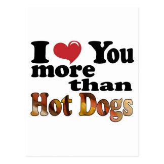 Hot Dog Love Postcards