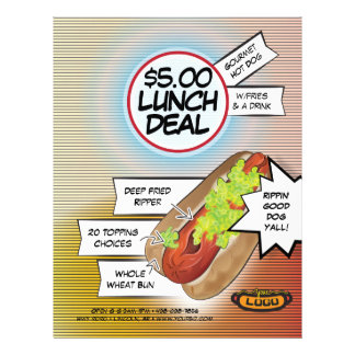 Hot Dog Lunch Deal 21.5 Cm X 28 Cm Flyer