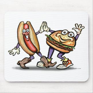 Hot Dog n Hamburger Mouse Pad