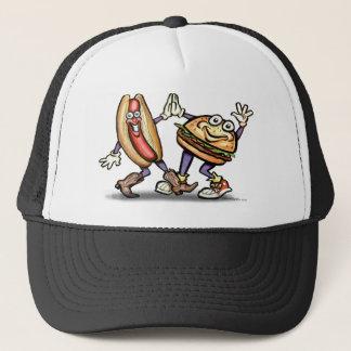 Hot Dog n Hamburger Trucker Hat