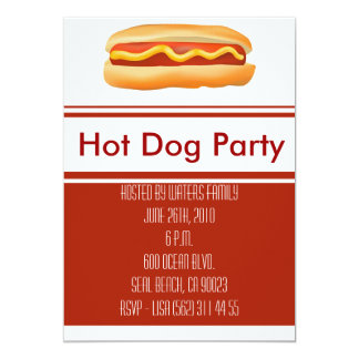 Hot Dog Party Invitation