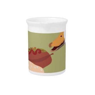 hot dog pitcher