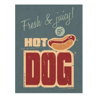 Hot Dog Postcard
