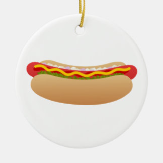 Hot Dog Round Ornament