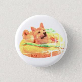 Hot Dog Shiba Badge