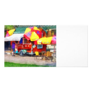 Hot Dog Stand in Mall Photo Cards