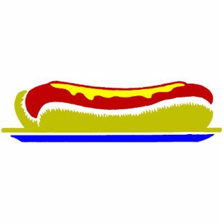 Hot Dog Standing Photo Sculpture