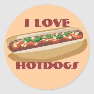 Hot Dog Stickers