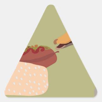 hot dog triangle sticker