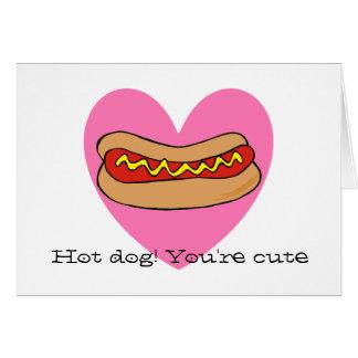 Hot dog Valentine card