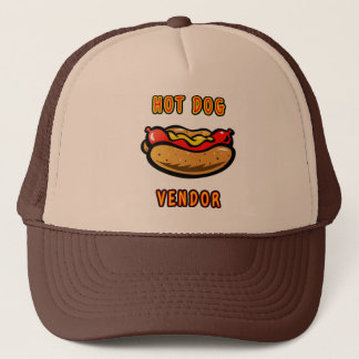 Hot Dog Vendor Trucker Hat by Mini Brothers