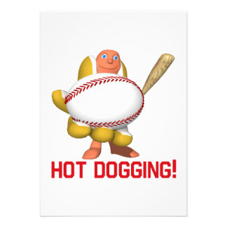 Hot Dogging Personalized Invites