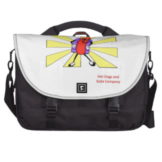 Hot Dogs and Soda Company Laptop Commuter Bag