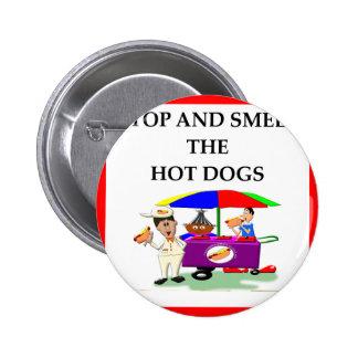 hot dogs 6 cm round badge