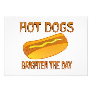 Hot Dogs Brighten the Day Invitation
