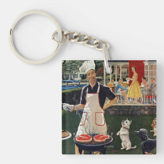 Hot Dogs Key Ring
