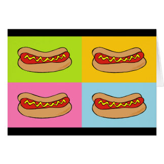hot dogs tiled design greeting card