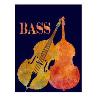 Hot Double Bass Postcard