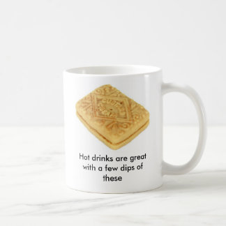 Hot drinks are great with biscuits basic white mug